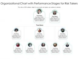Organizational Chart With Performance Stages For Risk Takers Infographic Template
