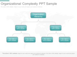 Organizational Complexity Ppt Sample