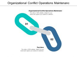 Organizational Conflict Operations Maintenanc Ppt Powerpoint Presentation Show Cpb