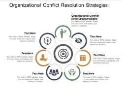 Organizational Conflict Resolution Strategies Ppt Powerpoint Presentation Show Templates Cpb