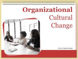 Organizational Cultural Change Powerpoint Presentation Slides