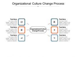 Organizational Culture Change Process Ppt Powerpoint Presentation Ideas Designs Cpb