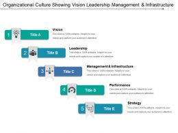 Organizational Culture Showing Vision Leadership Management And Infrastructure