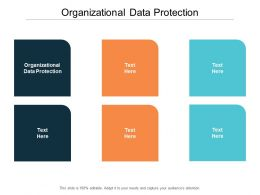 Organizational Data Protection Ppt Powerpoint Presentation Infographic Template Design Ideas Cpb