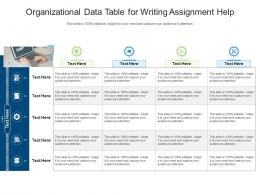 Organizational Data Table For Writing Assignment Help Infographic Template