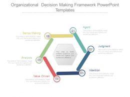 Organizational Decision Making Framework Powerpoint Templates