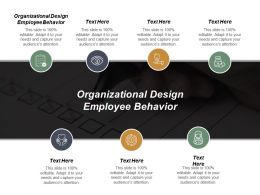 Organizational Design Employee Behavior Ppt Powerpoint Presentation Model Topics Cpb
