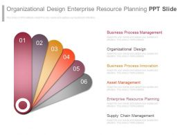 Organizational Design Enterprise Resource Planning Ppt Slide
