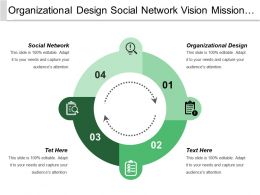 Organizational Design Social Network Vision Mission Goals Objectives