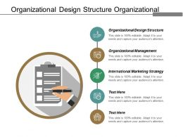 Organizational Design Structure Organizational Management International Marketing Strategy Cpb