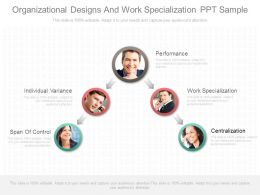 Organizational Designs And Work Specialization Ppt Sample