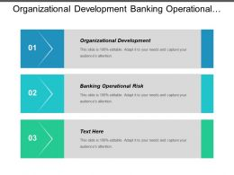 Organizational Development Banking Operational Risk Strategic Creative Marketing Cpb