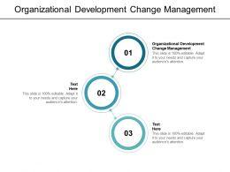 Organizational Development Change Management Ppt Powerpoint Presentation Styles Cpb