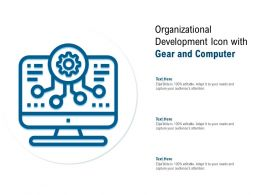 Organizational Development Icon With Gear And Computer
