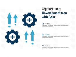 Organizational Development Icon With Gear