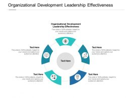 Organizational Development Leadership Effectiveness Ppt Powerpoint Icon Cpb