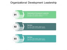 Organizational Development Leadership Ppt Powerpoint Presentation Inspiration Pictures Cpb