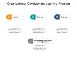 Organizational Development Learning Program Ppt Powerpoint Layouts Cpb