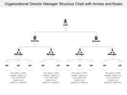 Organizational Director Manager Structure Chart With Arrows And Boxes