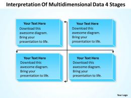 Organizational Dynamics Interpretation Of Multidimensional Data 4 Stages Powerpoint Templates 0515