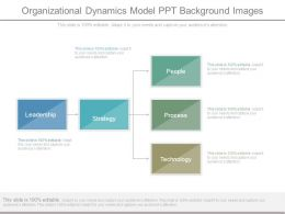 Organizational Dynamics Model Ppt Background Images
