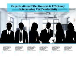 Organizational Effectiveness And Efficiency Determining The Productivity