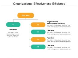 Organizational Effectiveness Efficiency Ppt Powerpoint Presentation Layouts Display Cpb