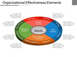 organizational effectiveness diagrams 4 - pie - division