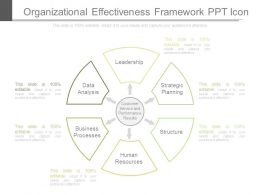 Organizational Effectiveness Framework Ppt Icon