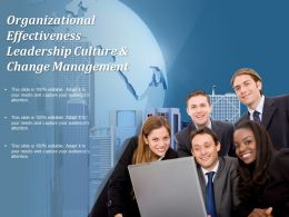 Organizational Effectiveness Leadership Culture And Change Management
