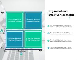 Organizational Effectiveness Matrix High Ppt Powerpoint Presentation File Backgrounds