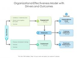 Organizational Effectiveness Model With Drivers And Outcomes
