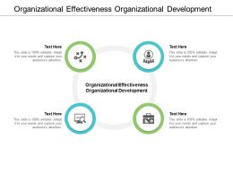 Organizational Effectiveness Organizational Development Ppt Powerpoint Presentation Icon Cpb