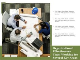 Organizational Effectiveness Team Working For Several Key Areas