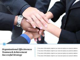 Organizational Effectiveness Teamwork Achievement Successful Strategy