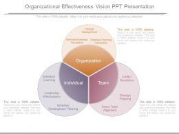 Organizational Effectiveness Vision Ppt Presentation