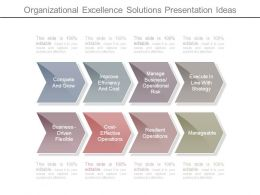 Organizational Excellence Solutions Presentation Ideas