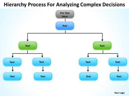 Organizational Flow Chart Hierarchy Process For Analyzing Complex Decisions Powerpoint Templates 0515