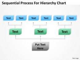 Organizational Flow Charts Sequential Process For Hierarchy Powerpoint Templates 0515