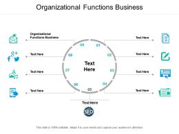 Organizational Functions Business Ppt Powerpoint Presentation Styles Icons Cpb