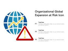 Organizational Global Expansion At Risk Icon