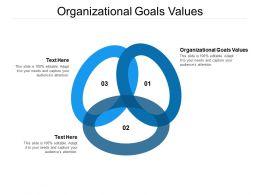 Organizational Goals Values Ppt Powerpoint Presentation File Portrait Cpb