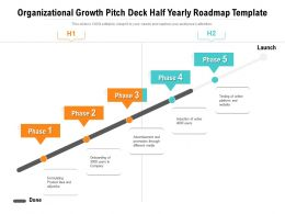 Organizational Growth Pitch Deck Half Yearly Roadmap Template