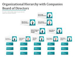 Organizational Hierarchy With Companies Board Of Directors
