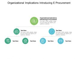Organizational Implications Introducing E Procurement Ppt Powerpoint Presentation Outline Professional Cpb