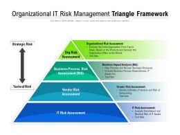 Organizational It Risk Management Triangle Framework