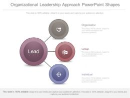 Organizational Leadership Approach Powerpoint Shapes