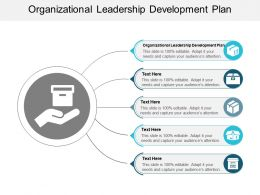 Organizational Leadership Development Plan Ppt Powerpoint Presentation Styles Slides Cpb