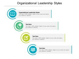 Organizational Leadership Styles Ppt Powerpoint Presentation Icon Outfit Cpb