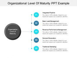 Organizational Level Of Maturity Ppt Example